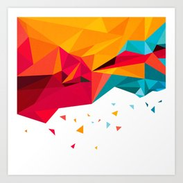geometric composition Art Print