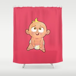 Baby red Shower Curtain