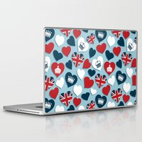 uk Laptop & iPad Skins featuring UK Hearts by Matt Andrews