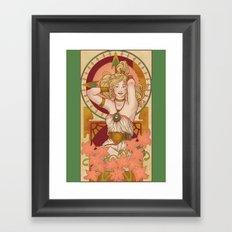 Chronos Nouveau Framed Art Print