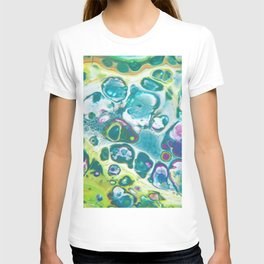 Fluid Nature - Living Cells - Abstract Acrylic Pour Art T-shirt