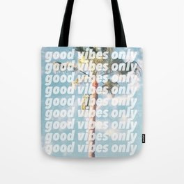 good vibes only, palm tree Tote Bag