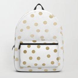 Stylish Gold Polka Dots Backpack
