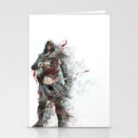 assassins creed Stationery Cards featuring Assassins Creed - Black Flag by alonnusenbaum