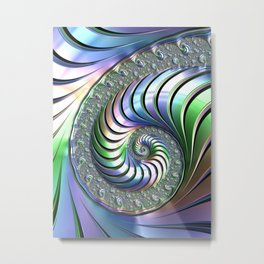 Colorful Spiral Metal Print