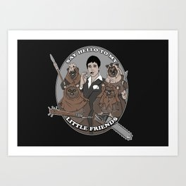 Scarface and his little Friends Art Print