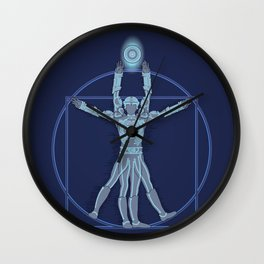 Vitruvian Tron Wall Clock