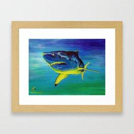 GW BLUE Framed Art Print