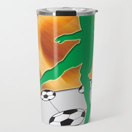 Soccer Dancing Version 1 Travel Mug