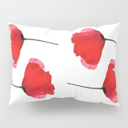 Two red poppies Pillow Sham