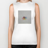 happiness Biker Tanks featuring Happiness by Michael Creese
