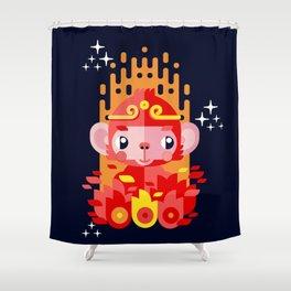 Fire Monkey Year Shower Curtain