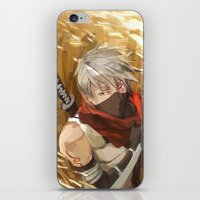 kakashi iPhone & iPod Skins featuring Scarecrow in the Rye by MMCoconut