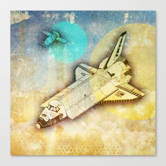 Lost in space _ Tribute to space tarvel Canvas Print