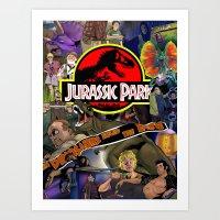 jurassic park Art Prints featuring Jurassic Park by JHall