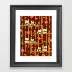 Owl Forest Framed Art Print