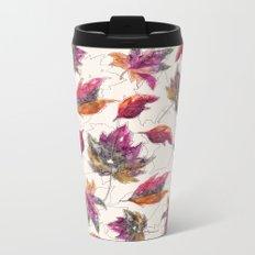 Maple Pattern Metal Travel Mug
