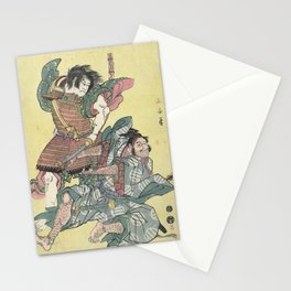Japanese Vintage Woodblock Print Stationery Cards