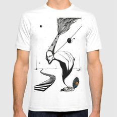 Life Cycle White Mens Fitted Tee MEDIUM