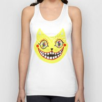 cheshire cat Tank Tops featuring Cheshire Cat by Janna Morton