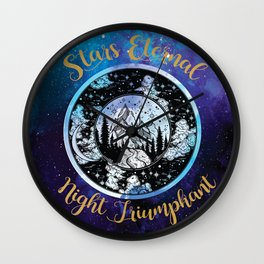 A Court of Mist and Fury - Stars Eternal Night Triumphant Wall Clock
