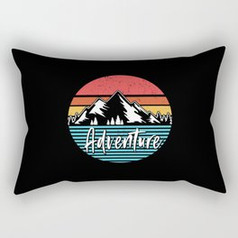 Adventure | Hiking Climbing Mountains Gift Idea Rectangular Pillow
