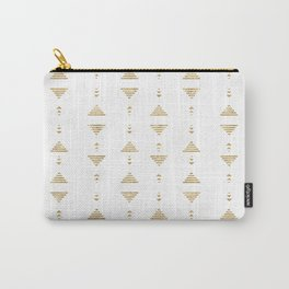 Modern geometric gold triangles Carry-All Pouch