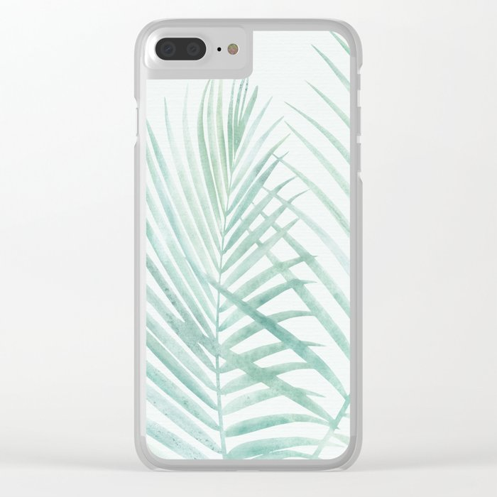Cool Minty Tropics Clear iPhone Case