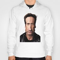 celebrity Hoodies featuring Celebrity Sunday ~ David Duchovny by rob art | illustration
