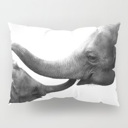 Wildlife Collection: Elephant Love Pillow Sham