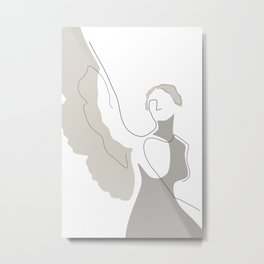 Cream Wings Metal Print