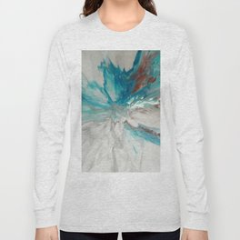 Blown Away - Abstract Acrylic Art by Fluid Nature Long Sleeve T-shirt