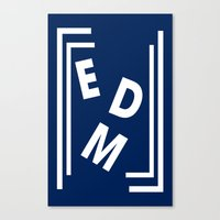 edm Canvas Prints featuring EDM (simple shapes) by DropBass