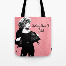 Olivia Newton-John Sandy in Grease Tell Me About It Stud Tote Bag