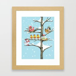 Christmas bird Framed Art Print