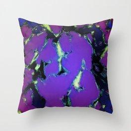 Soft blue shatter Throw Pillow