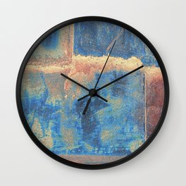 Rusted Metal Plates Abstract Wall Clock