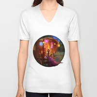 wanderlust V-neck T-shirts featuring Wanderlust by Aimee Stewart