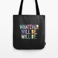 whatever Tote Bags featuring Whatever by TheSmallCollective