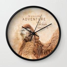 Peaks and Valleys Wall Clock
