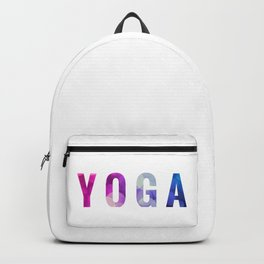 Yoga Bokeh Typography Backpack