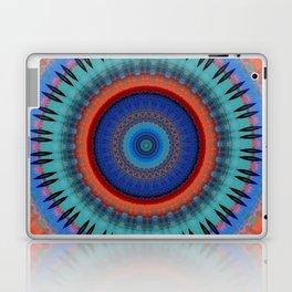 Orange Bright Blue Mandala Design Laptop & iPad Skin