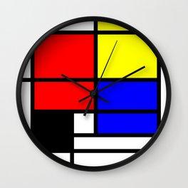 Mondrianista Wall Clock