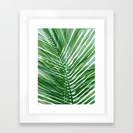 Abstract Palm Leaves | Green Framed Art Print