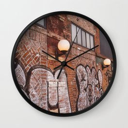 East Village Streets III Wall Clock