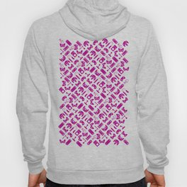 Control Your Game - White on Fuschia Hoody
