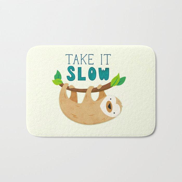 Sloth: Take it Slow Bath Mat