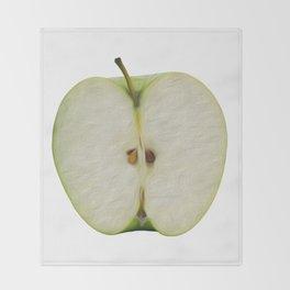 Half green apple Throw Blanket