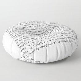 The Wisdom of Buddha Floor Pillow
