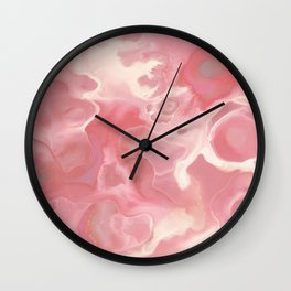 Melted Strawberry Cream Wall Clock